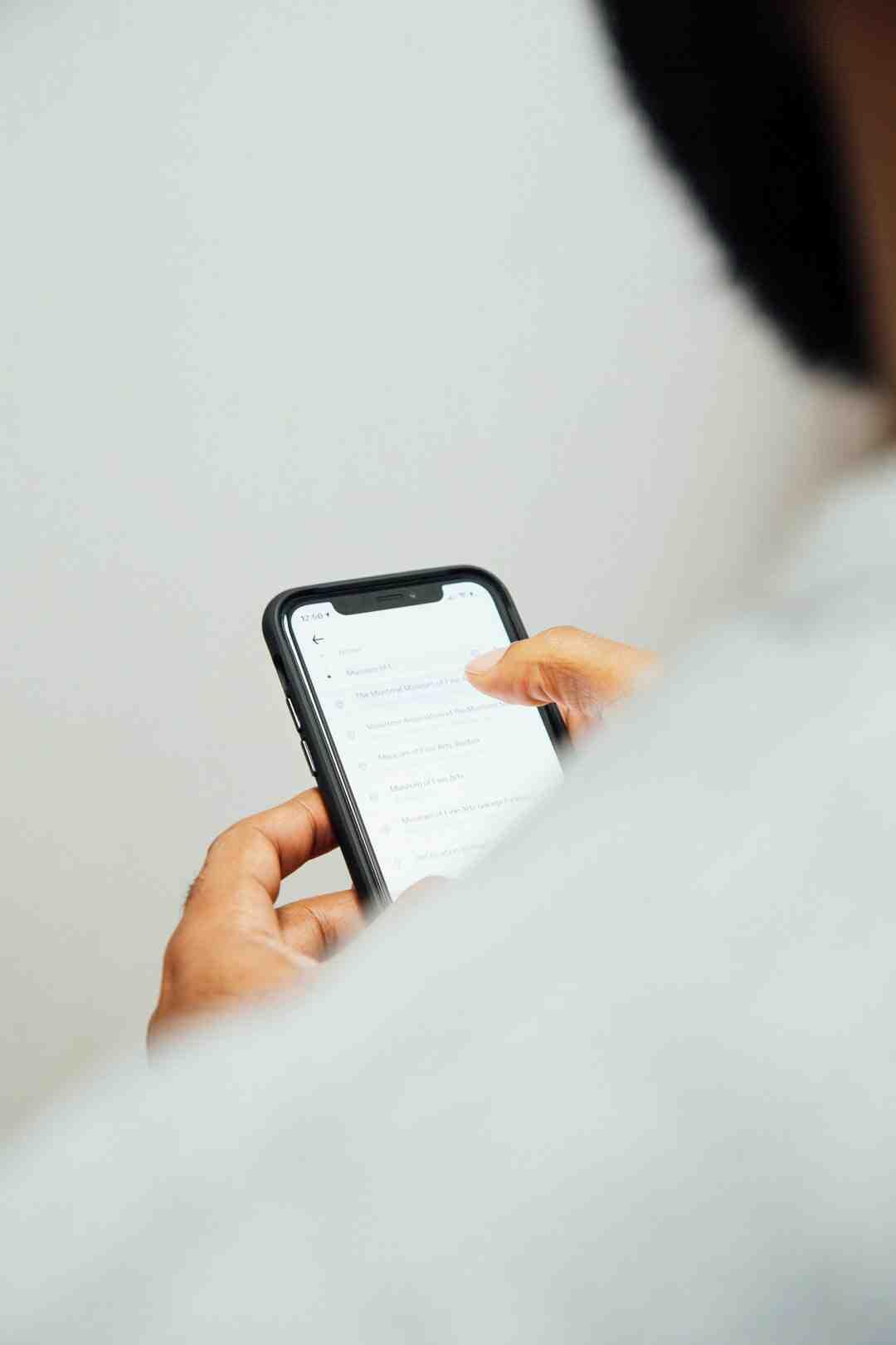 Comment faire un copier coller sur un iPhone